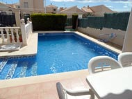 Lovely new 3 bedroom detached family villa with private pool to rent in San Juan de los Terreros - Costa Almeria. Spain